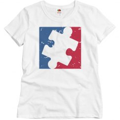 Distressed Women/Misses Major League AUTISM Logo Shirt