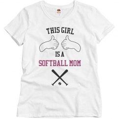 This girl softball mom