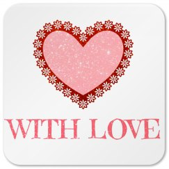 Pink Love Coaster