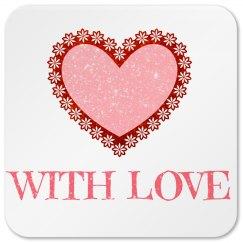 Pink Love Coaster