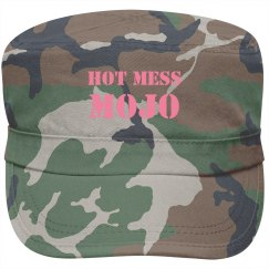 """Hot Mess Mojo """"fidel"""" style hat, pink font"""