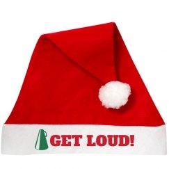 Get Loud Cheer Santa Hat