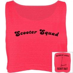 Scoot Rat crop top -orange