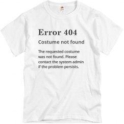 Error 404 Not Found Costume