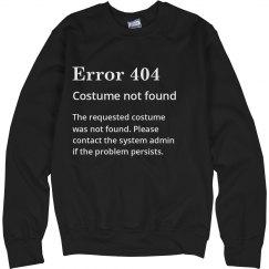 Error 404 Costume Not Found Black