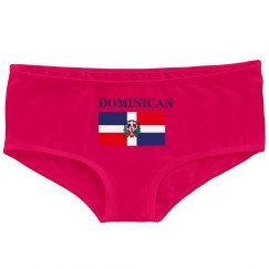 DOMINICAN FLAG BOOTY SHORTS