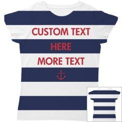 Custom Nautical All Over Print