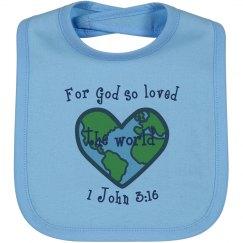 God so loved bib