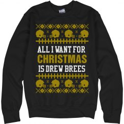 Football Ugly Sweater D. Brees