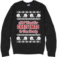 Football Ugly Sweater T. Brady