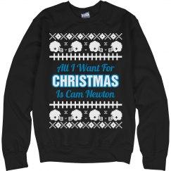 Football Ugly Sweater C. Newton