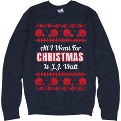 Football Ugly Sweater J. Watt