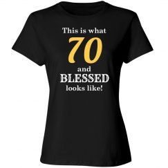 70 and blessed looks like
