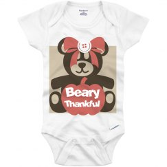 Beary thankful onesie