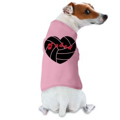 Pink Faded Dog Tank Top