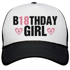 18th Birthday Girl Caps