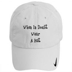 when in doubt wear a hat