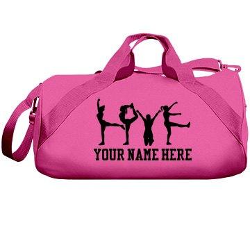 A Cheerleader's Custom Cheer Bag