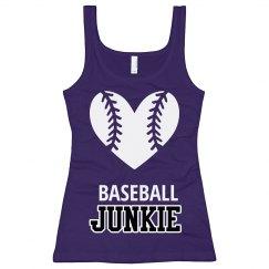 Junior Longer Purple Baseball Tank Top