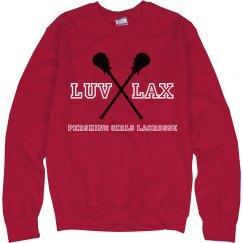 LUV LAX Sweatshirt Red