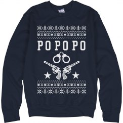 Po Po Po Holiday Cop Ugly Sweater