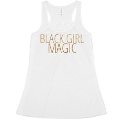 BLACK GIRL MAGIC (WHITE AND GOLD)