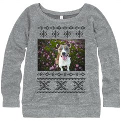 Custom Dog Photo Ugly Sweater