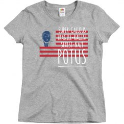 Not My Potus - Grey Ladies fitted T-shirt