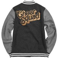 Golden Metallic Cheer Squad Jacket