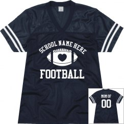 Football Moms Custom Jerseys With Name Number Text