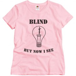 Misses Blind Tee Lt.Pink