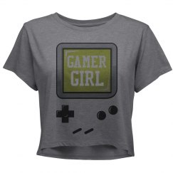 Retro Gamer Girl Crop Tee