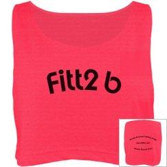Fitt2B Crop Coral Tee