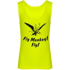 Fly Monkey Fly! Tin Man Oz Themed Girl's Tank Top