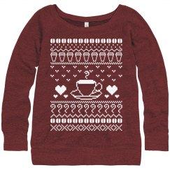 Coffee Holiday Sweater