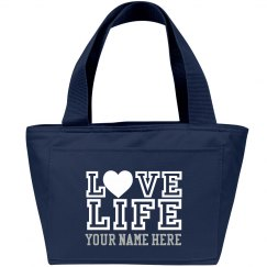 Love LIFE lunch bag with student's name