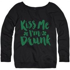 Kiss Me I'm Drunk Comfy Noodie
