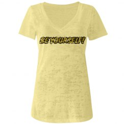 Be Yourself  V-neck Tee
