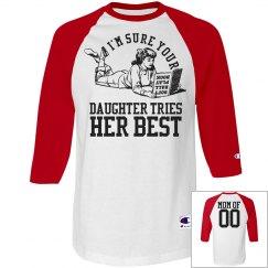 Customizable Funny and Snarky Softball Mom Jerseys