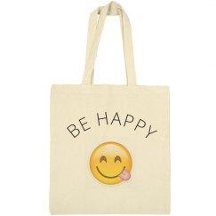 """BE HAPPY"" Emoji Bag"