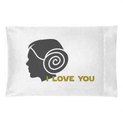 Leia I LOVE YOU *Galactic Love* matching couples pillow