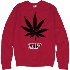 SIP Red Weed Sweater