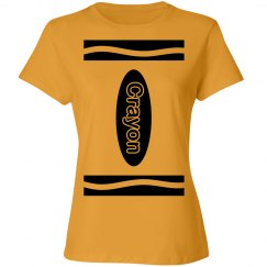 Yellow Crayon Shirt Costume