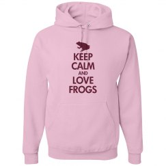 Keep calm love frogs