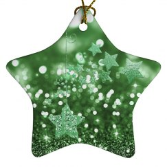 Green Bokeh & Stars
