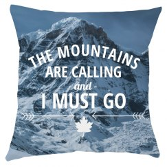 Mountains All Over Print Pillow