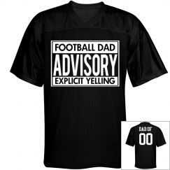 Funny Custom Football Dad Advisory Jersey
