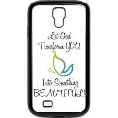 Let God Transform You  Samsung Galaxy S 4 Case Black