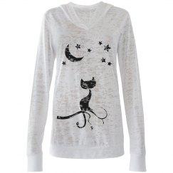 Night kitty sweater