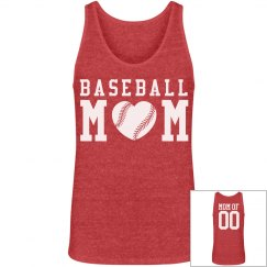 Custom Loose Fitting Baseball Mom Tank With Name Number